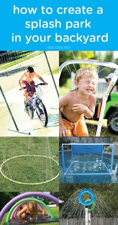 Warm summer days can make for wonderful opportunities to have kid-friendly fun with water—especially with this tutorial for how to create a splash park in your backyard! Don't forget the sunscreen!