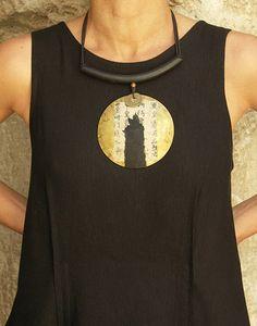 Ethnic brass necklace