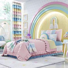 Kids Bedroom Furniture Design, Room Design Bedroom, Girl Bedroom Designs, Home Room Design, Bed Design, Girls Bedroom, Diy Bedroom Decor, Cute Room Decor, Baby Room Decor
