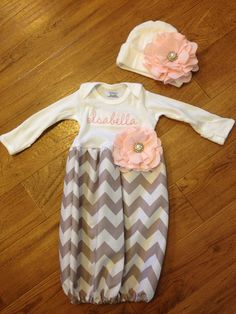 Baby girl takemehome set. by PeacebyPiece01 on Etsy, $40.00...I can make the outfit...just need some help with the monogramming :)