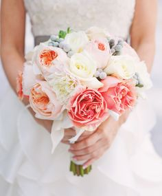 Gorgeous peony and rose bouquet.