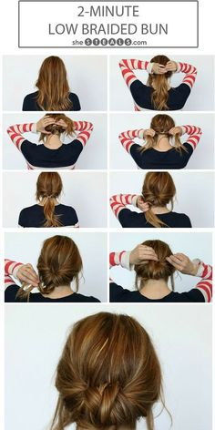 This braided bun is adorable and will make you look good even on those hot days!