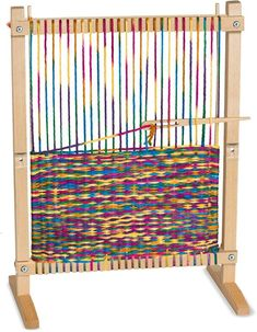 Melissa & Doug Wooden Multi-Craft Weaving Loom, Arts & Crafts, Extra-Large Frame, Develops Creativity and Motor Skills, H x W x L Yarn Crafts, Sewing Crafts, Clay Crafts, Best Educational Toys, How To Make Scarf, Cool Lettering, Melissa & Doug, Weaving Projects, Toy Craft