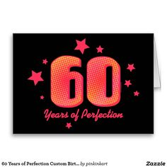 60 jaar van de Kaart van de Verjaardag van de
