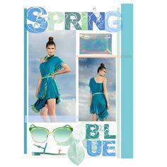 Spring blue by nati100%pureidea by natipureidea on Polyvore featuring Miss Selfridge and Gucci