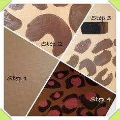 Girls room DIY leopard print