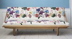 Poul M. Volther, 1960′s, Denmark. Daybed, re upholstered. Oakwood frame.