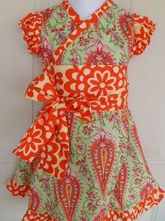Drops of Happy MODERN KIMONO DRESS sizes 08 years  by koolmono, $40.00