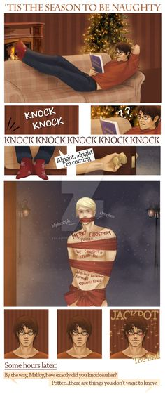 "drarry-sb: "" 'Tis the season to be naughty by Isi-Angelwings """