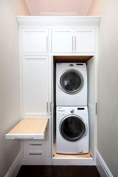 Creative Basement Laundry Room Ideas for Your Home (With Pictures), . Creative Basement Laundry Room Ideas for Your Home (With Pictures), Hidden Laundry, Tiny Laundry Rooms, Laundry Room Layouts, Laundry Room Remodel, Laundry Room Cabinets, Laundry Closet, Laundry Room Organization, Laundry Room Design, Basement Laundry