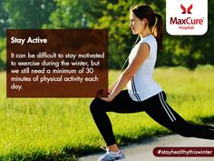 Physical activity is an excellent stress- buster and provides other health benefits. Visit: https://maxcurehospitals.com/ #MaxCureHospitals #MaxCure #StayActive #Exerciseregularly #WinterCold #BeHealthy #StayHealthy #StayHealthyThisWinter #Hyderabad