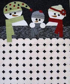 Snuggle Snowmen Quilt | AllFreeSewing.com