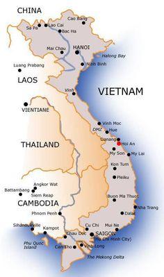 Travel in Vietnam: Hanoi vs. Saigon — A Beautiful View Laos Vietnam, Vietnam Tourism, Vietnam Travel Guide, Visit Vietnam, South Vietnam, Vientiane, Luang Prabang, Travel Maps, Asia Travel