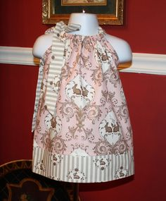EASTER outfit baby girls Pillowcase Dresses pink by BlakeandBailey, $19.99