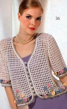 New baby crochet jacket pattern sweater coats 22 Ideas Crochet Bolero Pattern, Gilet Crochet, Crochet Coat, Crochet Cardigan Pattern, Crochet Shirt, Freeform Crochet, Crochet Clothes, Pull Crochet, Mode Crochet