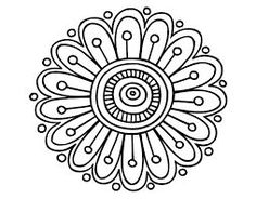 Simple mandala designs to draw dot coloring pages awesome home Mandala Design, Mandala Pattern, Zentangle Patterns, Embroidery Patterns, Zentangles, Mandalas Drawing, Mandala Painting, Dot Painting, Mandala Coloring
