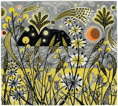 Angie Lewin is a lino print artist, wood engraver, screen printer and painter depicting the UK's natural flora in linocut and other limited edition prints. Linocut Prints, Art Prints, Block Prints, Angie Lewin, Collages, You Draw, Wood Engraving, Paisley, Limited Edition Prints