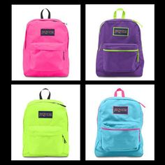 Which fluorescent are you? #JanSport Always wanted a neon backpack