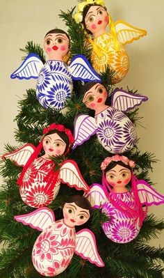 These lovely folkloric Christmas Boy ornaments are crafted entirely by hand from cardboard and paper. They are then diligently painted, paying special attention to every detail. A very colorful and...