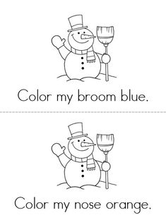Chilly the Snowman Mini Book - Sheet 2