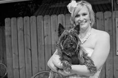 Kidd, Cairn Terrier, dressed up as best man at our wedding October 19th, 2013