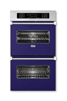 """30"""" Viking Double Custom Electric Touch Control Premiere Oven (VEDO) in Cobalt Blue"""