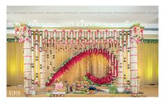As important as Wedding is, Decors is one of the most important and immediately spotted factor that sets the Wedding on a total mode. While this depends on choosing your theme wisely, without a dou. Indian Wedding Theme, Desi Wedding Decor, Wedding Hall Decorations, Marriage Decoration, Wedding Mandap, Wedding Scene, Wedding Backdrops, Wedding Ideas, Background Decoration