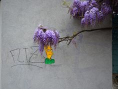"Street Art Oak Oak ""sideshow Bob and Glycine"" :D"