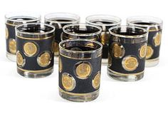 Raise a Glass | One Kings Lane midcentury textured coin glasses s/8 $99.00