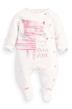 a3d76e8b3 Buy Girls newborn Newborn White White Sleepsuits Sleepsuits from the Next  UK online shop