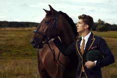 Kieran, owns three horses, originally from England Man On Horse, English Riding, Next Top Model, Equestrian Style, Equestrian Fashion, Fashion Shoot, Men's Fashion, Preppy Style, Timeless Fashion
