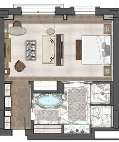 Book your luxury getaway at The St. Our upscale hotel in Astana offers breathtaking accommodations & exclusive amenities. Design Hotel, Hotel Bedroom Design, House Design, Master Bedroom Plans, Bedroom Floor Plans, Resort Plan, Hotel Floor Plan, Casa Patio, Small Room Design