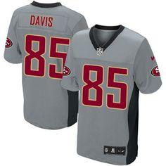 Nike Elite Youth San Francisco 49ers http://#85 Vernon Davis Grey Shadow NFL Jersey$79.99