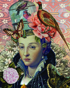 """""""Lucrezia"""" digital image by Pearl Red Moon 2015 Distortion Art, Sculpture Painting, Red Moon, Altered Books, Digital Collage, Figure Painting, Textile Art, Figurative, Digital Image"""