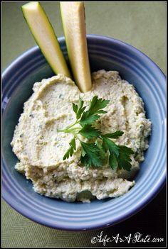 Roasted Garlic Zucchini Hummus