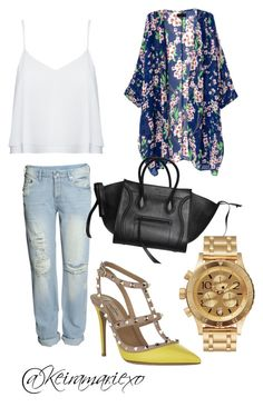 All About Spring! by keiramariexo on Polyvore featuring polyvore, fashion, style, Alice + Olivia, H&M, Valentino, CÉLINE, Nixon, women's clothing, women's fashion, women, female, woman, misses and juniors