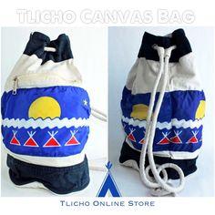 #Tłįchǫ canvas bag made by Thomas Nitsiza of #Whatì
