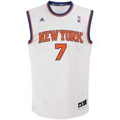 Carmelo Anthony New York Knicks White Replica NBA Adidas Jersey