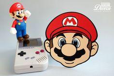 Super Mario Card - Biglietto di auguri a forma del leggendario Super Mario Bros. Ideale per accompagnare regali a tema o per tutti gli amanti del genere!  www.facebook.com/AuguriDiversi