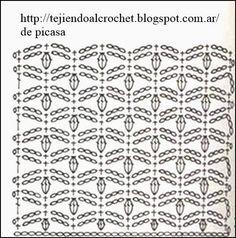 PATRONES - CROCHET - GANCHILLO - GRAFICOS: SEGUIMOS CON LA COLECCION DE PUNTOS TEJIDOS A CROCHET