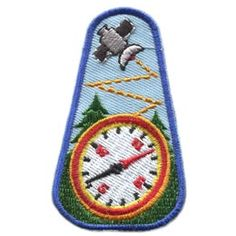 Geocaching, Compass, Tree, Satellite, Treasure, Hidden, Patch, Embroidered Patch, Merit Badge, Badge, Emblem, Iron On, Iron-On, Crest, Lapel...
