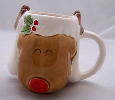 Vintage Japan Child's Rudolph the Red-Nosed Reindeer Christmas Mug ~ $40