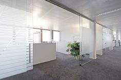 Tabique corredero / de aluminio / de cristal / acústico GM TOPROLL BALANCE Glas Marte GmbH