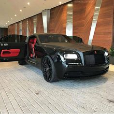 Wraith ☠ via millionaire collection rolls royce, royce Luxury Sports Cars, Top Luxury Cars, Sport Cars, Porsche, Audi, Rolls Royce Cars, Rolls Royce Wraith, Lux Cars, Fancy Cars