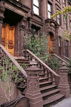 Brownstone - New York City - (My first NY apartment was in a brownstone that looked very much like this.)