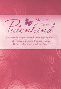 Karte Taufe Text Patenkind metallic rose | eBay