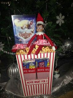 Elf on the shelf arrives with goodies