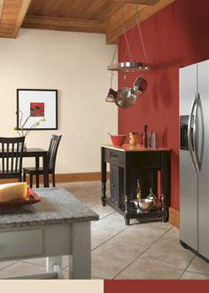 Sherwin Williams Make A Small Kitchen Look Bigger Red WallsKitchen ColorsKitchen IdeasHouse ColorsWall ColorsBedroom Paint ColorsLiving
