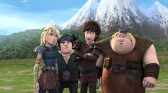 This picture gives an accurate description of the show. Hiccup is confident and knows what he's doing while the rest of the riders are clueless when it comes to Hiccup and his ways. <---- YES! So true!