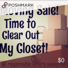 EVERYTHING MUST GO - PRICES MARKED DOWN Hi! I've marked down basically all of my listings. I'm moving soon, changing my lifestyle, and EVERYTHING MUST GO. Or else I will donate! Dresses